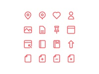 Free 100 Essential icons set