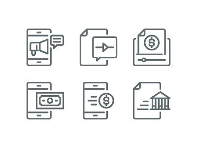 Business icon set business icon website vector ui symbol outline line illustration icon app