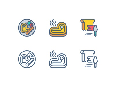 Barbecue icon set app icon illustration line outline symbol ui vector website barbecue icon food