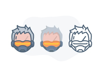 Overwatch - soldier 76 :) fps game illustration icon overwatch player character