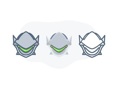 Overwatch - Genji :)Genji fps game illustration flat icon icon overwaych player charactor
