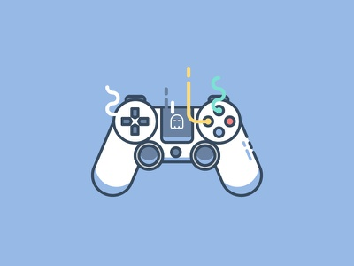 PS4 Controller let's join !! <3 <3 join us ps4 controller player game vector symbol outline line illustration icon