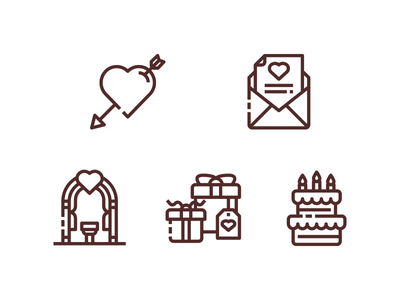 Wedding Icons wedding wedding icon symbol design website ui vector outline line illustration icon