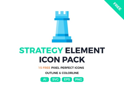 Free 15 Strategy Element icons strategy website ui symbol outline line illustration icon