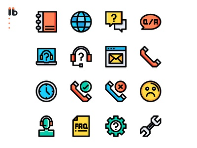 50 call center service icons set app website vector ui symbol outline line illustration icon
