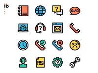 50 call center service icons set app website vector ui symbol outline line illustration icon