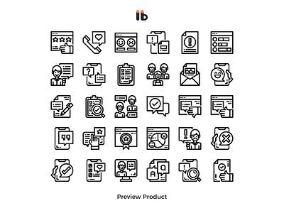 Customer service and feedback website web feedback customer service vector line icon
