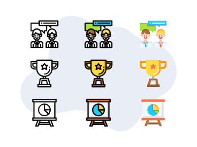 Entrepreneur (business startup) icon illustration line symbol ui vector business