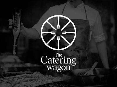 The Catering wagon restaurant restaurant branding restaurant logo wagon catering logo catering illustration logo