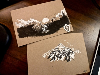Polygons, Hills and Valleys, and other nature-ey things concept drawing polygons black and white nature valley fountain pen ink illustration game fanart moutains olly moss firewatch