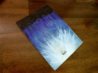 New Water Mystery nighttime falling fiction watercolor drawing ink illustration story ocean