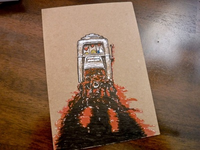 No End in Sight watercolor ink illustration misery depression twitter instagram facebook social media scrolling slotmachine jackpot casino