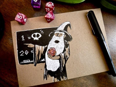 You too...should learn to play d&d ttrpg drawing teacher dice skull ink illustration game d20 wizard learning dnd dungeons and dragons