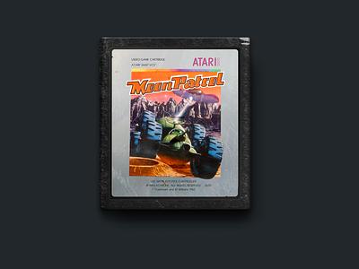 Atari 2600 Moon Patrol Cartridge 2600 video game retro 1982 vectors figma cartridge atari
