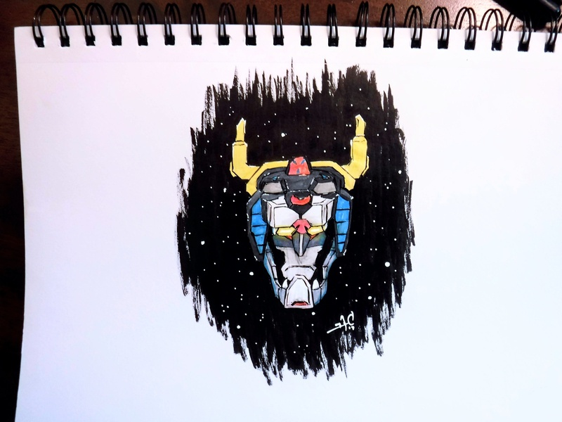 Voltron: not amused, you feel me? sketchbook robot character sketch ink copic drawing illustration netflix voltron