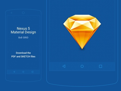 Sketch Sheets • Material Design w/ 8x8 Grid
