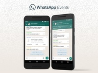 Whatsapp Events - Concept