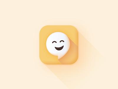 App icon design (Laugh My App Off) jokes funny fun yellow ui branding graphic design 3d icon 3d simple ios app icon icon