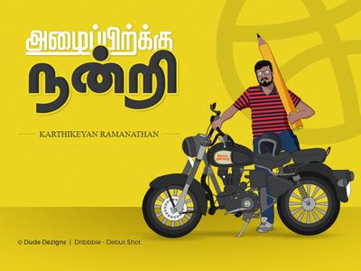 Thank You @Karthikeyan Ramanathan tamil first shot vector portrait illustrator debut shot