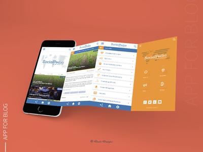 Mobile App For Blog   UI Mockup