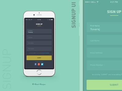 Signup Form UI