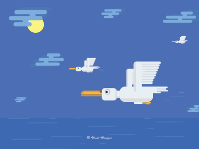 Go High & Fly   Vector Illustration