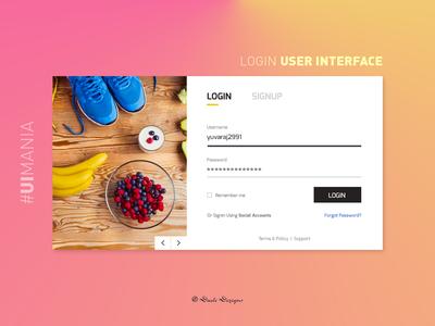 Login User Interface   #UIMania_01