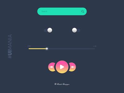UI Elements   Music App   #UIMania