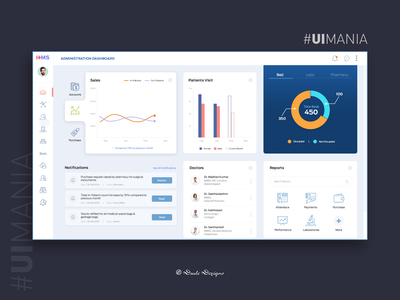 Hospital Management System Admin Dashboard   UI Design