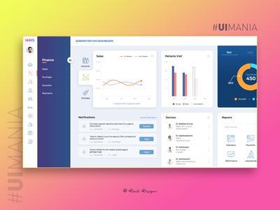 Hospital Management System - Menu   UI Design