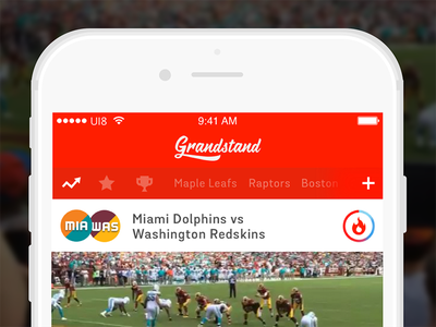 Grandstand: Sports Highlights from the Crowd to the Couch app video sports