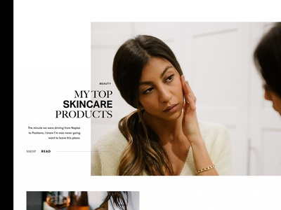 Not Your Standard homepage interactions hero design interaction shop typography lifestyle blog ui ux toronto fashion