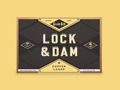 Lock and Dam 12-Pack Alt packaging colle mcvoy graintbelt beer 2ndstring