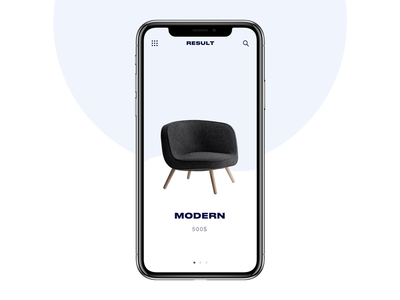 Online store buy shop chairs transitions concept animation ui