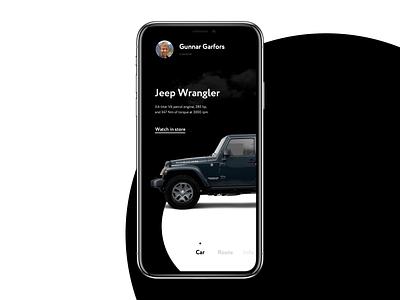 Travel app trip desert jeep application app travel slider mockup design interaction interface animation ux concept ui