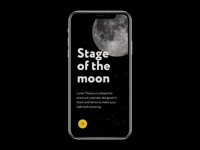 Moon stages design ux-ui mock up slider moon interaction concept animation ui app application transition