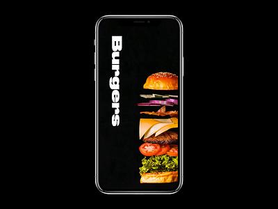 Burgers app cocacola cola ketchup sauce food fries burger ui-ux ui mockup interface buy slider interaction design application concept app animation