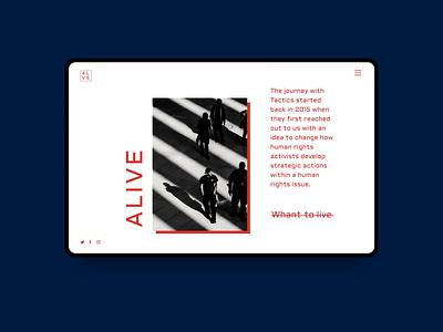 Alive Shot  | design concept principle mockup interface slider interaction ui design concept animation
