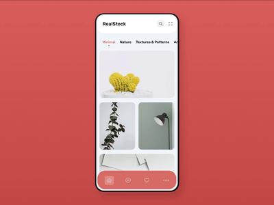 Photo stock app animation | Concept principle interaction transition animation ui photostock photos interface concept design concept application app design app