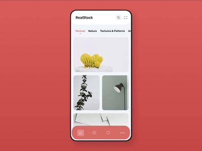 Photo stock app animation   Concept