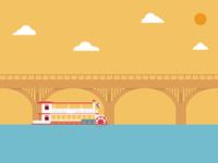 Lonestar Riverboat with Bridge