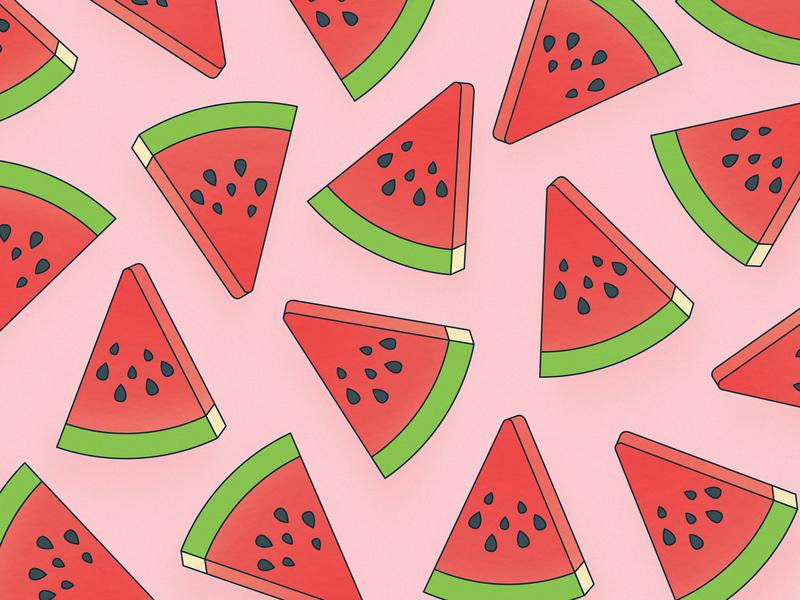 Watermelon Pattern food illustration summer pink linework watermelon pattern vector illustration illustration vector