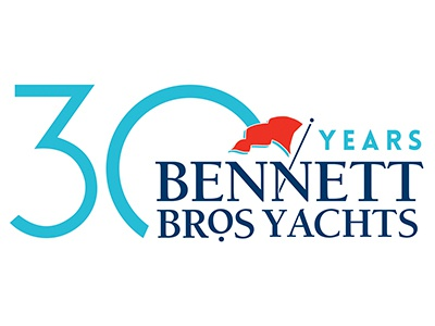 Bennett Brothers Yachts 30th  yachts logo update special event 30 year special logo 30th anniversary