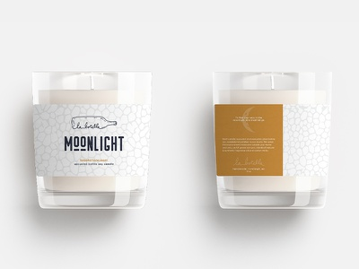 La Botella Label packaging design candle label packaging labeldesign