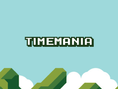 Timemania game logo 8bit