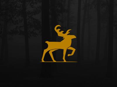 Alce logo moose animal brand