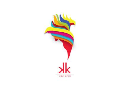 KK  kock bird logo design animal king brand kk colorfull