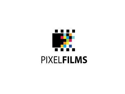 PixelFilmes colourful pixel logo films brand design minimalistic colors square creativity cine lettering tipografia tipography type typography branding brasil brazil chile identidade identities identity inspiration logodesign style romania simple cursive motion