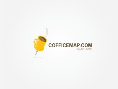 COFFICEMAP logo coffee map vector place search id office check brand design branding brasil brazil chile identidade identities identity inspiration logodesign minimalistic romania custom simple style meet tool maping break bussines