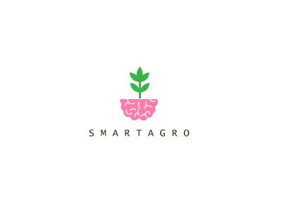 Smartagro logo agro smart leaf chile brand brain santiago romania brasil minimalist id restaurant freelancer identity inspiration logodesign minimalistic custom simple style design brazil branding identidade identities freelance plant eco